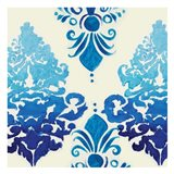 Blue Ombre Damask 3