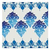 Blue Ombre Damask 4