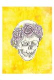 Skull with Rose Crown