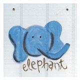 Happy Blue Elephant
