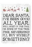 Dear Santa Nevermind White