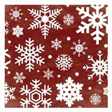 Red Snow Flakes