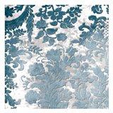 Blue Silver Floral Stamp