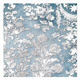 Silver Blue Floral Stamp