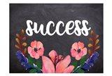 Success Flower Chalkboard