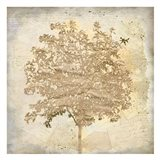 Tree Silhouette Gold Craft 2
