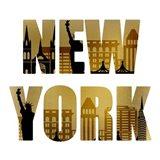 Golden New York Square