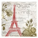 Paris Script Curtain