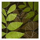 Green Brown Leaves