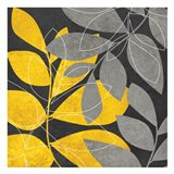 Grey Gold Leaves 2