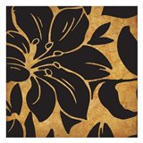 Black and Gold Flora 1