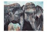 Elephants Pair