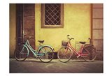 Blue and Pink Bikes
