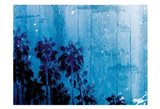 Palm Cool Night Blue Horizontal