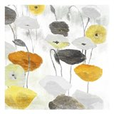 Yellow Grey Poppies Two