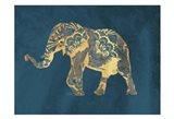 Navy Gold Elephant