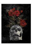 Skull Red Flowers