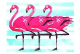 Three Flamingo