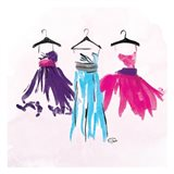Dresses Watercolor Mate