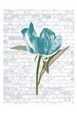 Blue Brick Floral