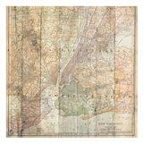NY Map On Wood