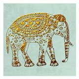 Dusty Aqua Elephant
