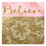 Believe Golden Flowers