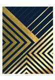 Metallic Lines Navy 2