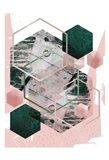 Pink Green Geo Hex