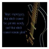 Neon Square Music Quote 2