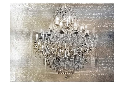 Silver Gold Chandelier Poster by Tracey Telik for $22.50 CAD