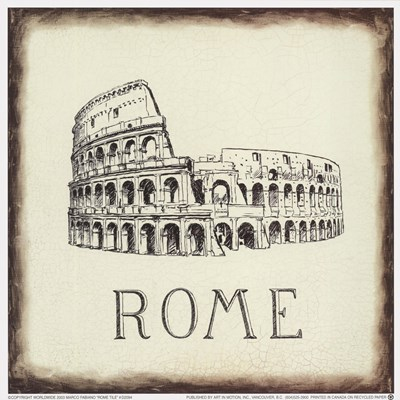 Rome Tile Poster by Marco Fabiano for $10.00 CAD