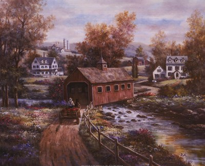 Old Red Mill Poster by T.C. Chiu for $18.75 CAD