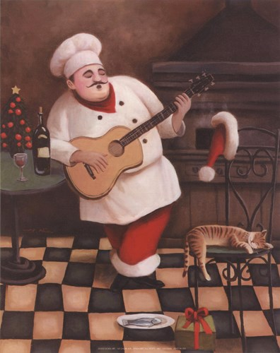 Christmas Chef I Poster by T.C. Chiu for $7.50 CAD