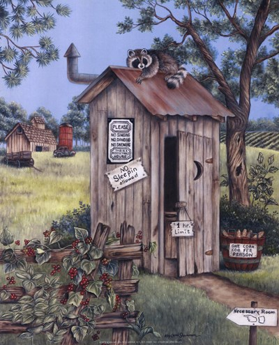 Outhouse - Raccoon Poster by Kay Lamb Shannon for $7.50 CAD