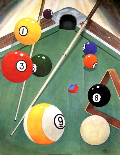 Billiards I Poster by Anne Jenkins for $28.75 CAD
