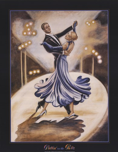 Dancers I (Blue) Poster by Zambon for $28.75 CAD
