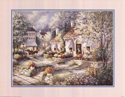 Flower Shop Poster by George Bjorkland for $28.75 CAD