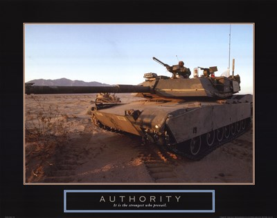 Authority - Tank Poster by Unknown for $17.50 CAD