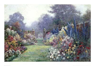 A Summer Garden Poster by Alfred De Breanski for $43.75 CAD