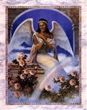 Black Angel with Rainbow