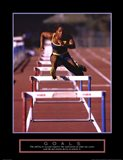 Goals - Runner Jumping Hurdles