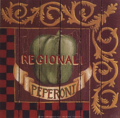 Peperoni Regionali Poster by Susan Clickner for $10.00 CAD