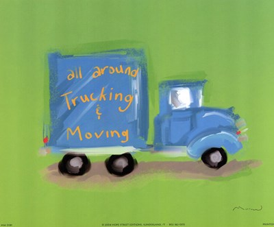 All Around Trucking Poster by Anthony Morrow for $11.25 CAD