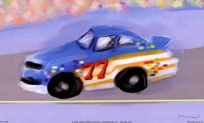Racecar Poster by Anthony Morrow for $10.00 CAD