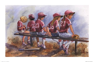 Girls to Bat Poster by Glenda Brown for $18.75 CAD