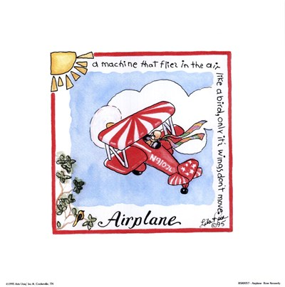 Airplane Poster by Lila Rose Kennedy for $7.50 CAD