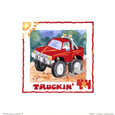 4 X 4 Truckin Poster by Lila Rose Kennedy for $7.50 CAD