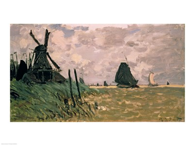 A Windmill near Zaandam, 19th century Poster by Claude Monet for $32.50 CAD