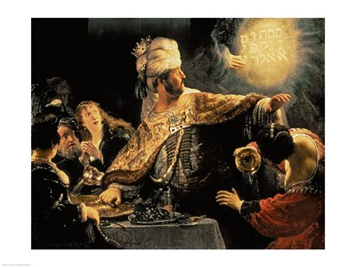 Belshazzar's Feast c.1636 Poster by Rembrandt van Rijn for $30.00 CAD